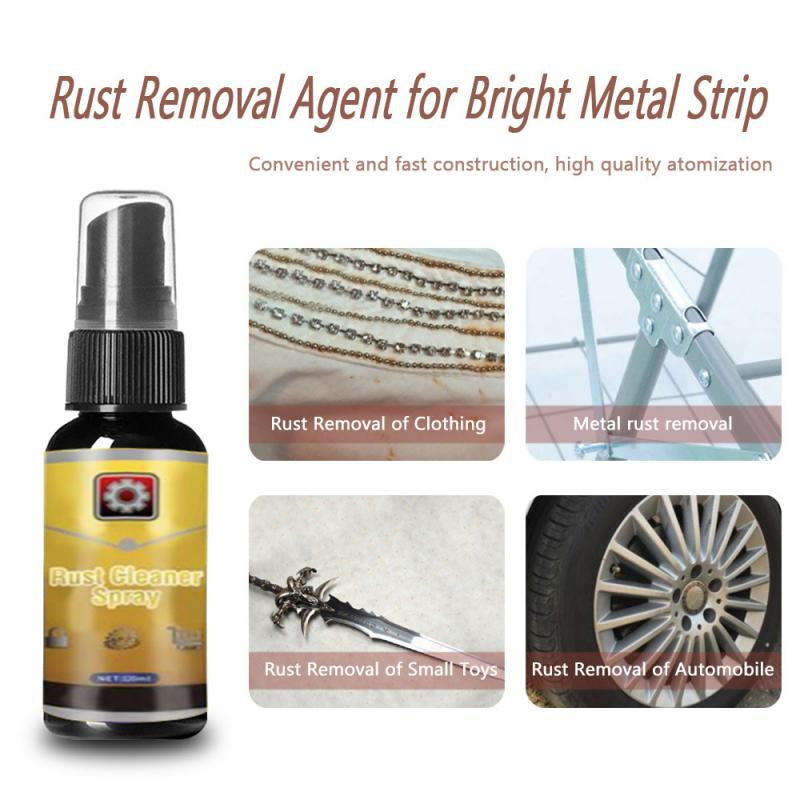 30ML Powerful All-Purpose Rust Cleaner Spray Car Maintenance Household Cleaning Tools Anti-rust Lubricant