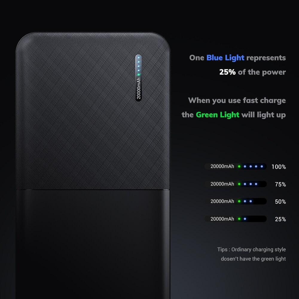 TOPK Power Bank 20000mAh Portable Charger USB...