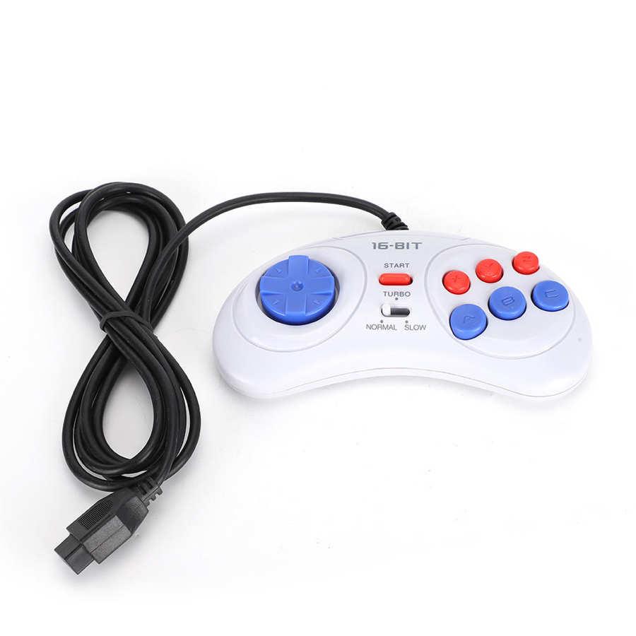 Mini Console di gioco portatile a 9 Pin a 16bit Controller di gioco ergonomico bianco per gamepad mobile Sega pubg di piccole dimensioni e leggero