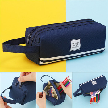 Double Zipper School Pencil Case Kawaii Pencilcase Creative Pen Case Box For Girls Cute Big Pencil Pouch Bag Stationery Supplies big simple hard pencilcase pen case etui cute kawaii multifunction pencil box pencil case for school bts korean stationery