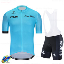 2020 Pro Team Strava Summer Ropa De Ciclismo Hombre Short Sleeve Bike Uniform Mtb Cycling Jersey Set Full Cycling Clothing(China)