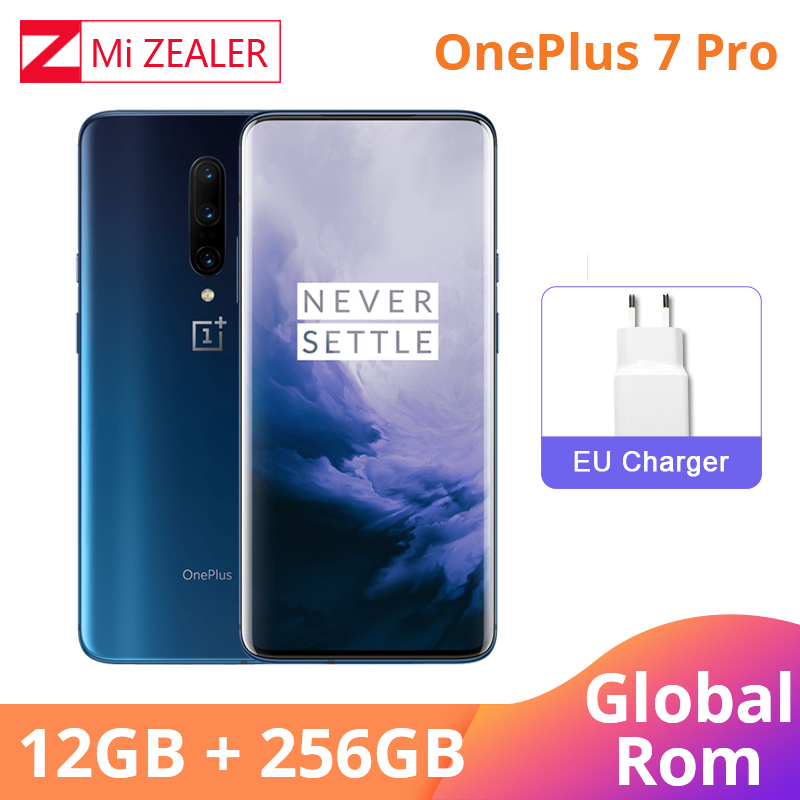 Oneplus 7 Pro Global ROM 12GB 256GB Smartphone Snapdragon 855 6.67 Inch 90Hz AMOLED Display Fingerprint 48MP Camera NFC