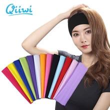 Dr.Qiiwi femmes bandeau Sport Yoga bandes de cheveux couleur unie élastique Sport bandeaux unisexe Sport sueur bandeau