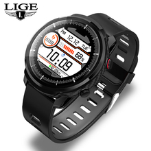 New Smart Watch Men IP68 Waterproof Sport clock Heart Rate Monitor Weather Forecast Full touch screen Smartwatch For IOS Android sleep monitor smart bracelet interactive music digital clock weather forecast smart watch men android ios watches with pedometer