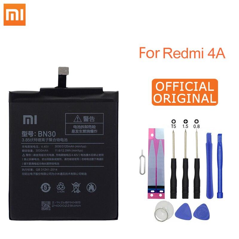 Xiao mi Telefone Para Xiao mi mi Vermelho 4A BN30 3120mAh Da Bateria Redrice Hong mi 4A 4A Bateria de Alta qualidade + Ferramentas