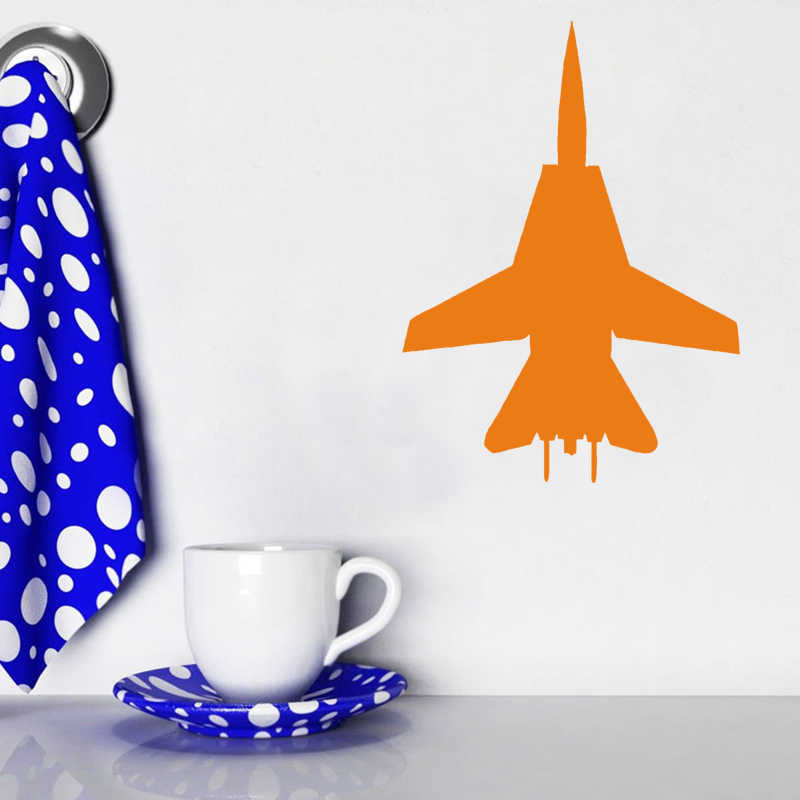 Empreying 3 rozmiar 8 kolory F-14 Fighter samochodów naklejki Pilot Fly samolot Jet Bomber walki okno zderzak winylowa tablica naścienna prezent