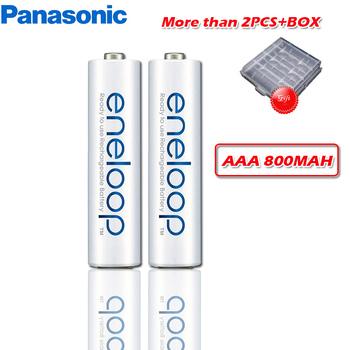 100 oryginalny Panasonic 1 2V 800mAh akumulator aaa na zabawki zdalnie sterowane Ni-MH wstępnie naładowany cykl baterii 2100 razy tanie i dobre opinie BK-4mCCA 800 mAh Baterie Tylko NiMH batteries