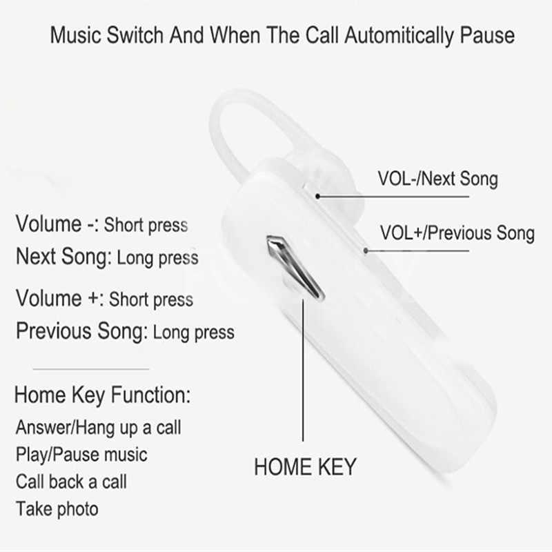 M163 słuchawki Bluetooth bezprzewodowy/a słuchawki minisłuchawki Bluetooth bezobsługowy zestaw słuchawkowy z mikrofon do telefonu Samsung Xiaomi (A620)