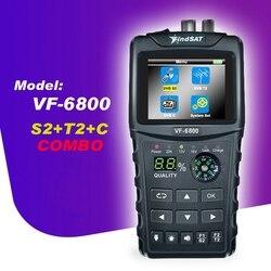 ABSF VF 6800 miernik z celownikiem satelitarnym Dvb T2/DVB S2/DVB C Combo sat finder Dvb T2 odbiornik satelitarny Satfinder wtyczka amerykańska w Części i akcesoria do instrumentów od Narzędzia na