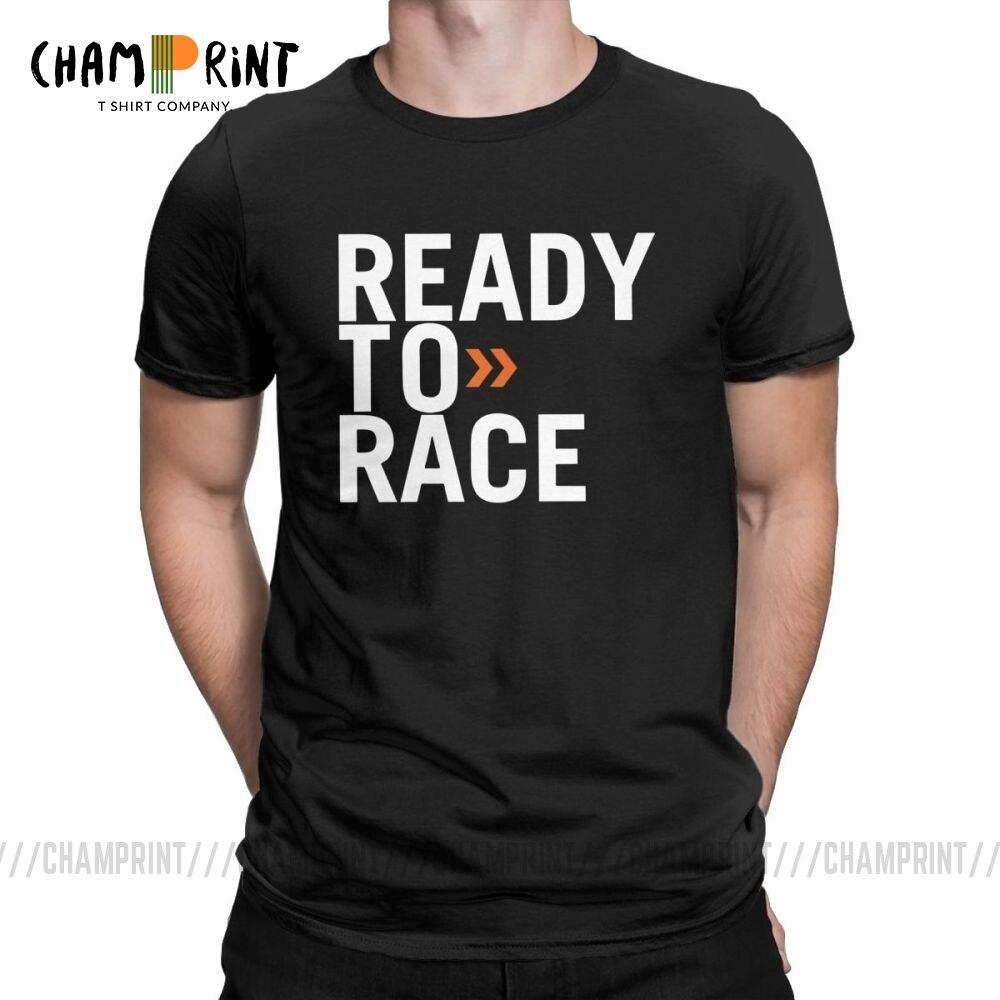 Men's T Shirt Ready To Race Novelty Tops Enduro Cross Motocross Bitumen Bike Life Tees Clothes Cotton Printed T-Shirt Plus Size