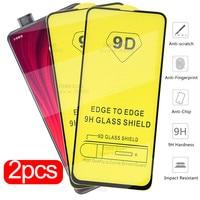 2 pezzi Xiomi Mi 9 A3 10 Lite Glass 9D Full Glue vetro protettivo per Xiaomi 10T 9T Pro Poco F3 X3 M3 9 SE A2 pellicola proteggi schermo
