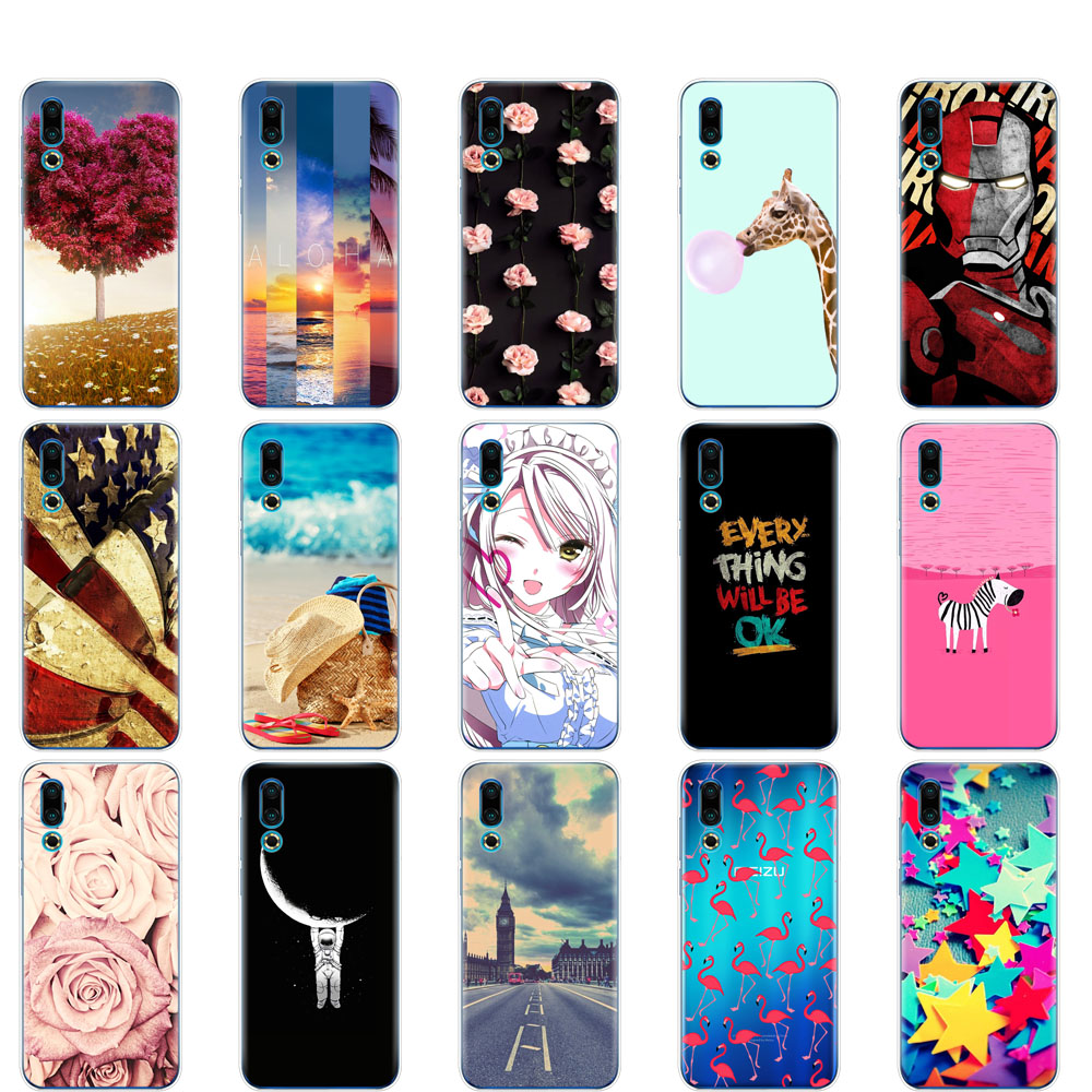 case For <font><b>Meizu</b></font> 16S Case 6.2'' Soft TPU Silicone phone bag coqa For <font><b>Meizu</b></font> 16s <font><b>16</b></font> S Slim Coque full <font><b>360</b></font> Protective Fundas shells image