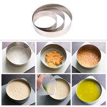 Round Stainless Steel Ring Cake Mold Spray Pattern Baking Mold Mousse Circle Dumpling Cookies Dessert Tools stainless steel 6 10cm adjustable cake mousse ring 3d round cake mold cake decorating baking accessories tools