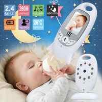 Baby Monitor Video a Colori Senza Fili babyfoon baba elettronico di Sicurezza 2 Parlare di Visione Nigh LED di Monitoraggio della Temperatura bebek telsizi