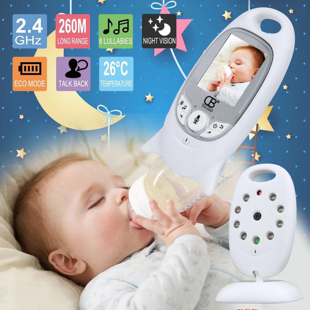 Dla dzieci kolor wideo bezprzewodowy babyfoon baba elektronicznych bezpieczeństwa 2 mówić Nigh Vision monitorowanie temperatury LED bebek telsizi