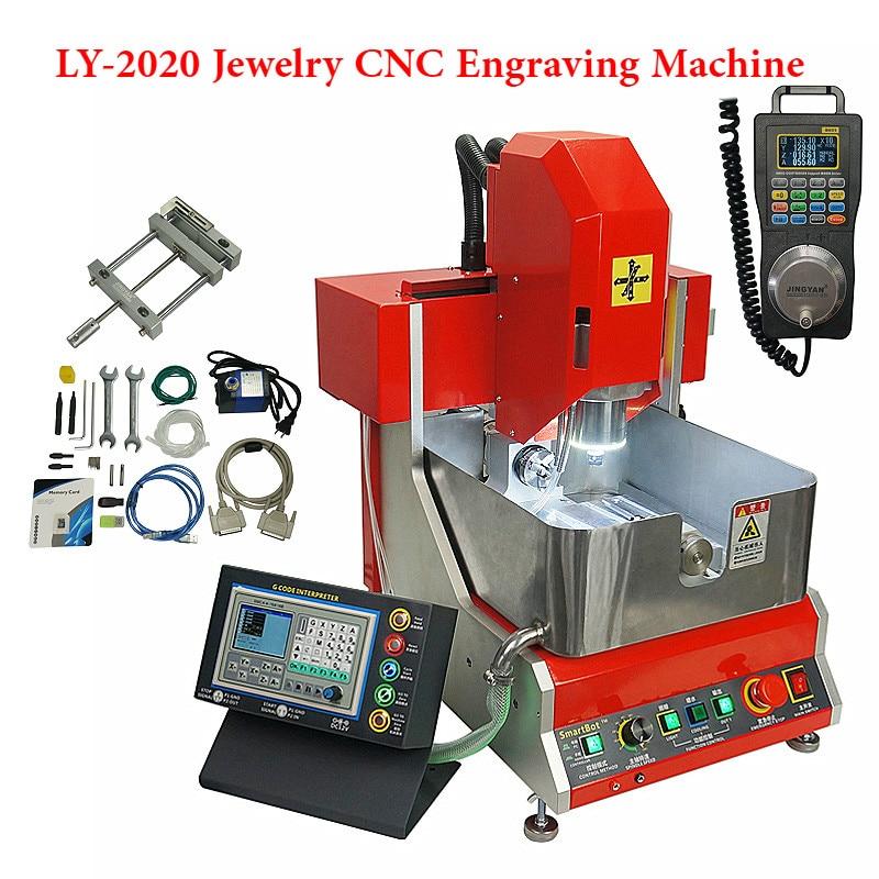 Professionnel LY 2020 4 axes CNC machine de gravure routeur pour bijoux cire joint avec fonction de travail hors ligne 800W broche mach3
