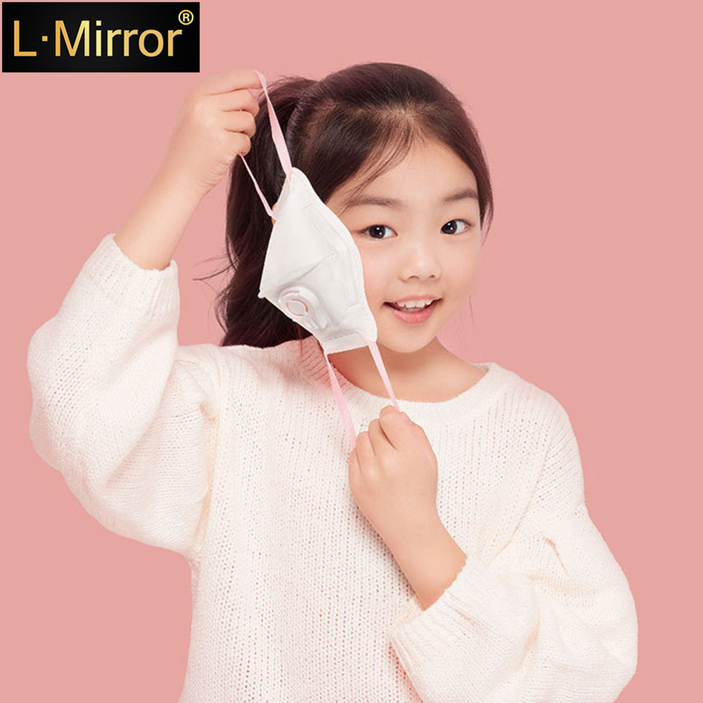 L.Mirror 1Pcs Disposable Kids PM2.5 Anti Pollution Mask Outdoor Protection N95 Non-woven Fabric Dust Mouth Mask 4 Layer Breathin