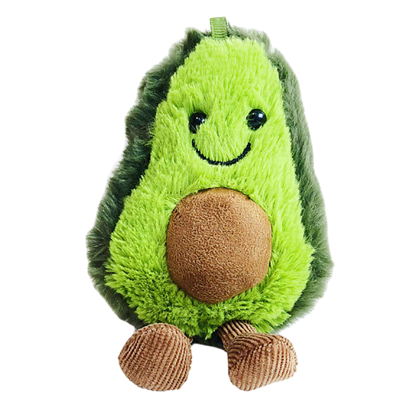 Cute Cartoon Fruit Plush Doll Keychains For Women Avocado Key Chain Car Keyring Bag Charms Pendant Trinket