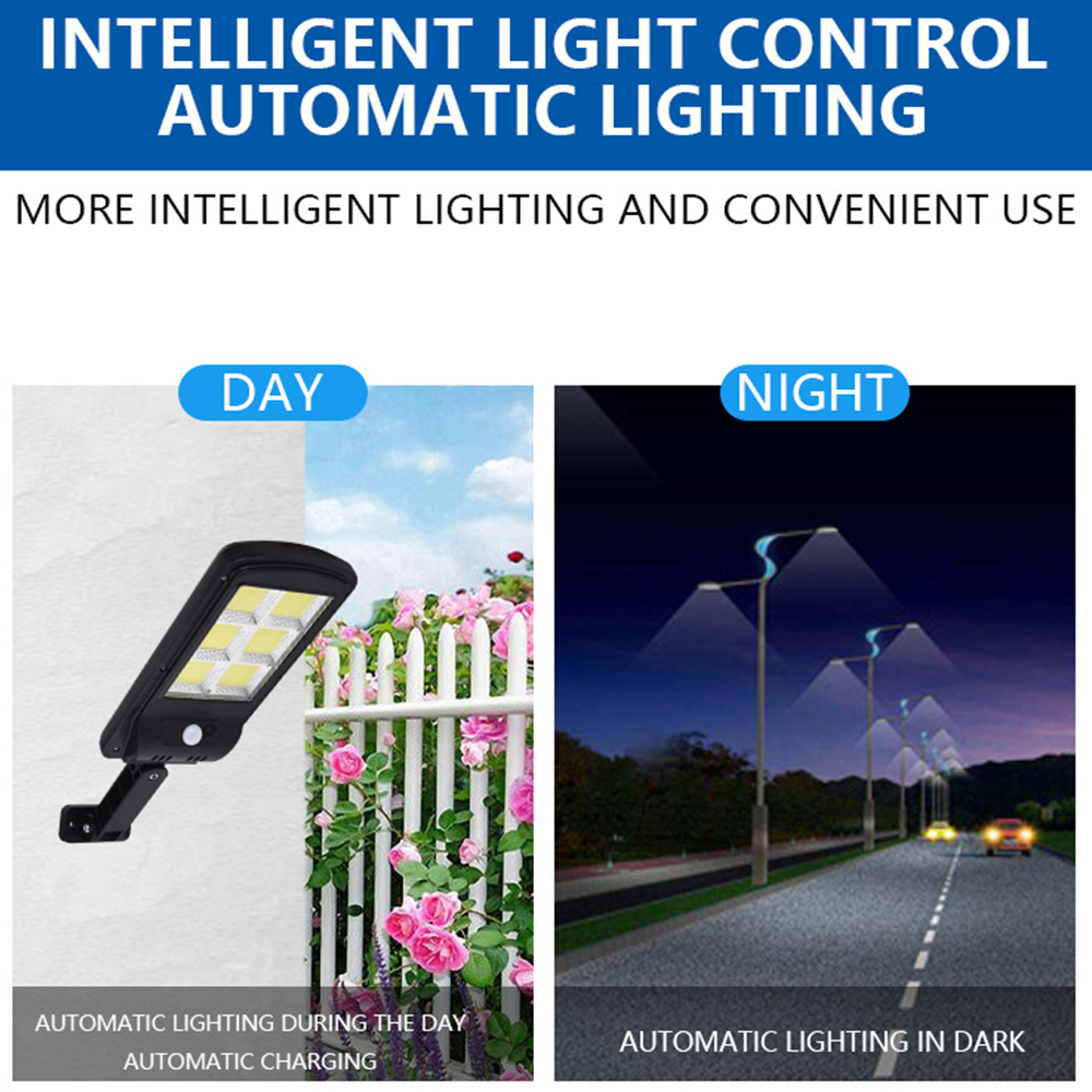 Outdoor Solar LED Street Light 360W Waterproof Wall Lamp PIR Sensor induction COB Industrial Garden Square Highway Road lamp