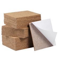80pcs 95x95mm Self Adhesive Square Cork แผ่นสำหรับ DIY Coasters กระเบื้องไม้ก๊อก Cork Mat