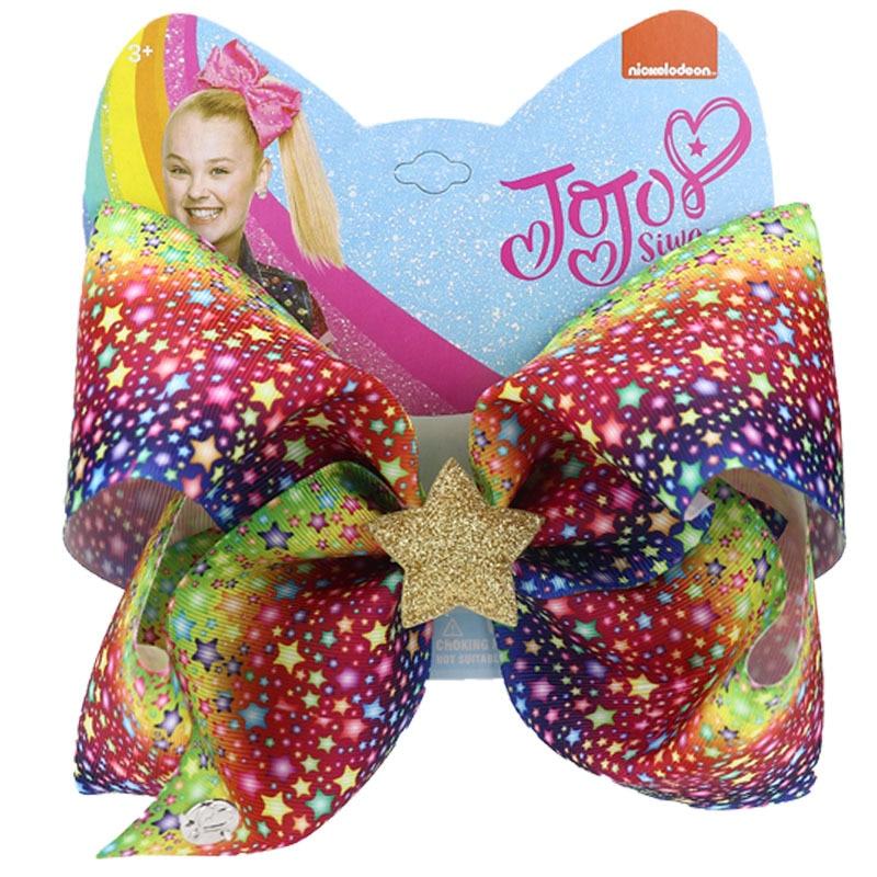 8inch Jojo Siwa Bows  For Girls Large Hair Bow Jojo Siwa Kids Hair Clip Ribbon Knot Vanlentine Day Hair Accessories For Girl