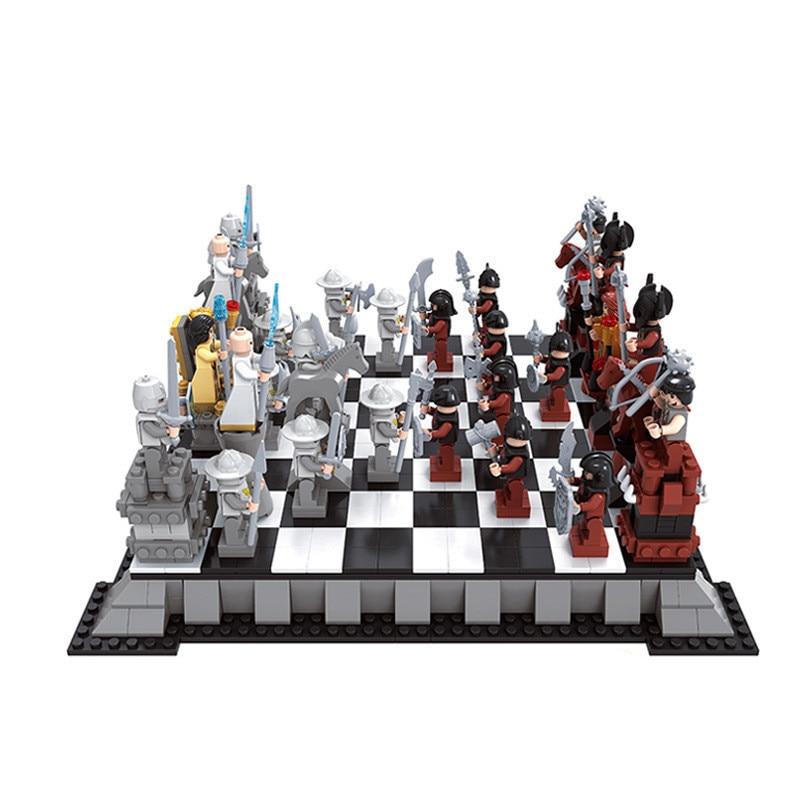AUSINI 27907 1142PCS International Chess Building Blocks Bricks Kids Toys For Children Bringuedos  Friends Castle Series