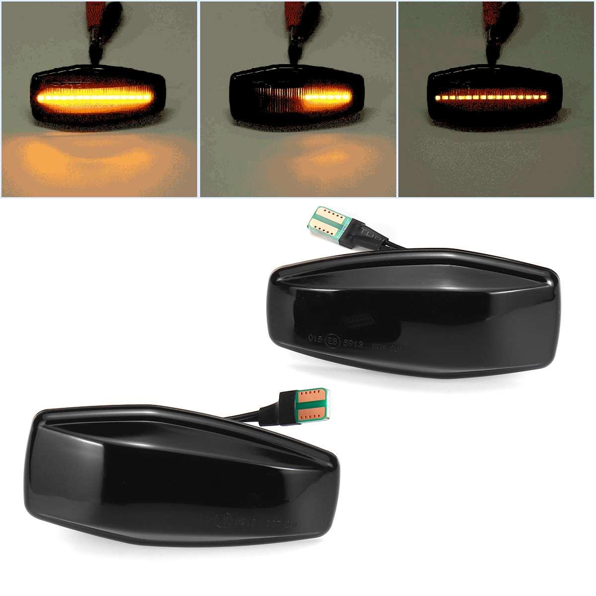 Pair Flowing Turn Signal Led Side Marker Light 12V Panel Lamp Side Lamp Dynamic Indicator Blinker For KIA RIO SEDONA SPORTAGE