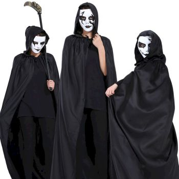 купить NiceMix haloween costume woman and kids cosplay Grim Reaper Cloak vampire cosplay clothing day of the dead  Devil Black print в интернет-магазине