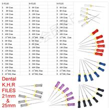 6pcs Dental K H R Files 6#-80# 21mm&25mm All Models Protaper Root Canal Dentist Materials Dentistry Instruments