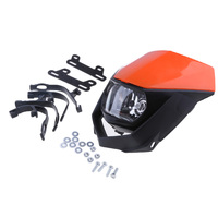 CRF XR WRF YZF DRZ KLX 용 오토바이 전조등 페어링 키트
