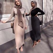 Skirt Islamic-Clothing Arab Muslim-Bottom Long Fashion Dubai Chiffon Wear Maxi Pleated
