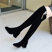 Plus Size 34-43 New Women's Winter Shoes Over The Knee Boots High Quality Faux Suede Brand Women Shoes Wool Women Winter Boots genuine leather women winter boots brand women winter shoes natural wool warmful plush high quality knee high boots xammep