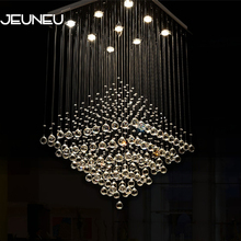 Luxury Empire Classical Chandelier with GU10 AC 9 Lights Crystal Modern chandeliers ceiling for Living Room Bedroom Hotel Lobby