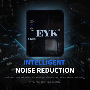 Image 5 - EYK EG02 ميكروفون لاسلكي احترافي UHF Lavalier ، للهواتف الذكية ، وكاميرات DSLR ، وتسجيل مباشر ، و Vlog ، و YouTube ، وبطارية ليثيوم