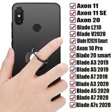 ل ZTE Axon 10 برو 11 4 جرام SE 5 جرام 20 شفرة A3 A5 A7 2019 A7s 2020 L210 V2020 الذكية عودة حلقة حامل قوس حامل الهاتف غطاء لينة