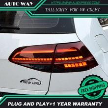 Stylowy pokrowiec samochodowy do volkswagena VW Golf 7 MK7 Golf7 Golf7.5 MK7.5 tylne światła tylne wszystkie LED tylna lampa dynamiczny kierunkowskaz