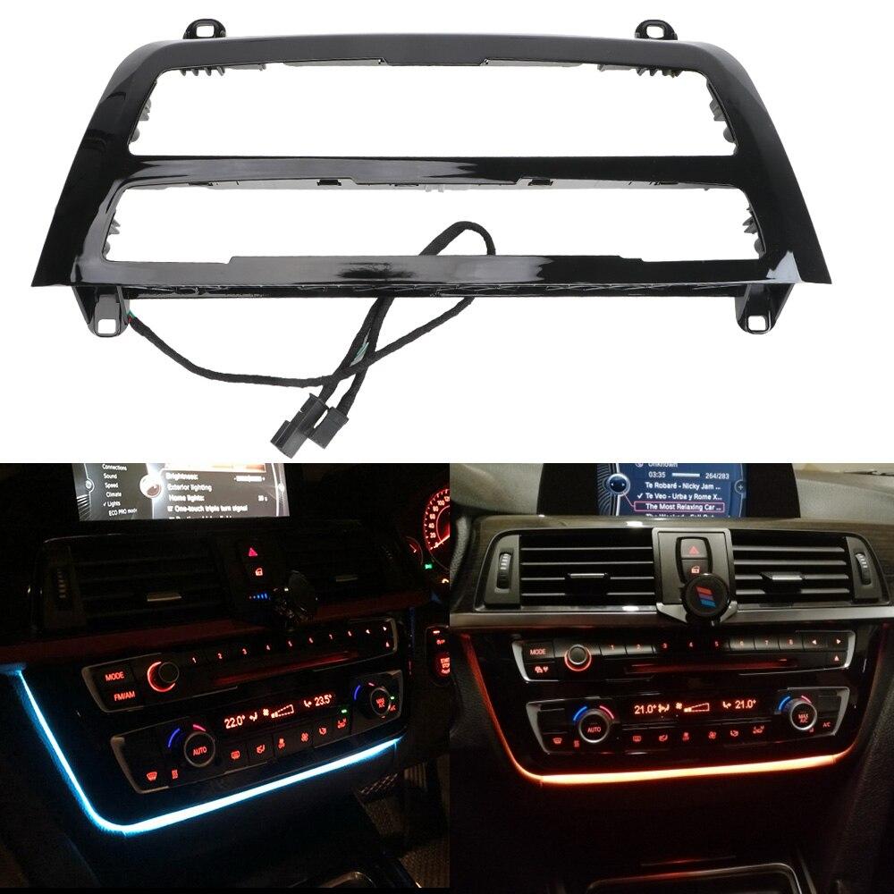 Автомобильный радиоприемник системы центральной консоли крышка приборной панели, светодиодный приборной панели для BMW F30 F31 F32 F33 F34 F35 F36 F80 F82 ...