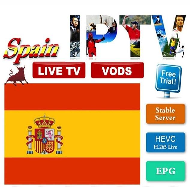 1/3/6/12 Months Best Spain IPTV M3u Subscription For Spanish Portugal Dutch Sweden Polish PC Smart TV Android TV Box Stalker