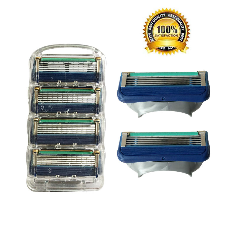 4pcs/lot Professional Shaving 5 Layers Razor Blades Compatible For Gillettee Fusione For Men Face Care Or Mache 3