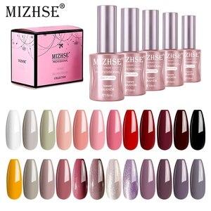 Image 1 - MIZHSE Gel Nail Polish Set 6PCS 18ML Nail Kit UV Gel Set For Manicure Set Semi Permanent Shiny Sequins Led Gel Varnish