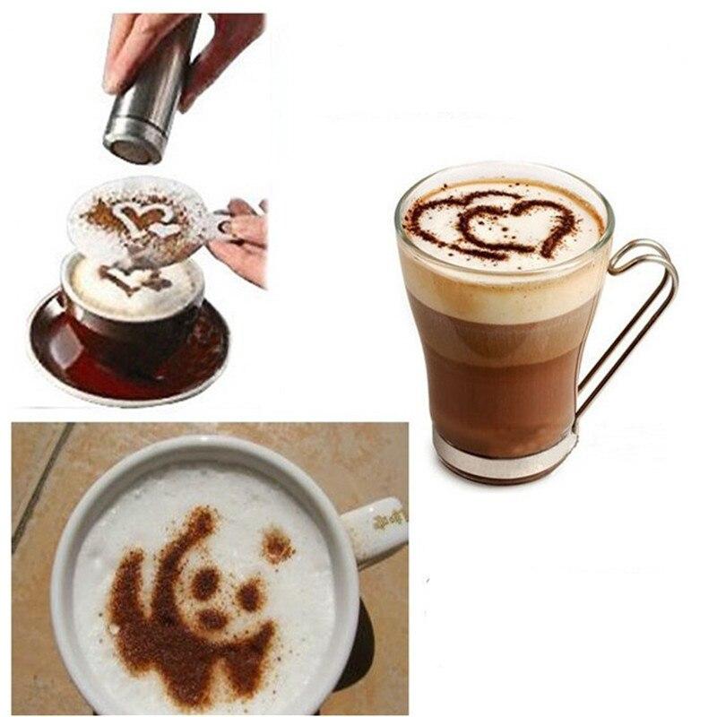 Креативные кухонные аксессуары 16 шт. Модный шаблон для печати на кофе кухонные инструменты Кухонная Посуда шаблон для распыления кофе кухо...