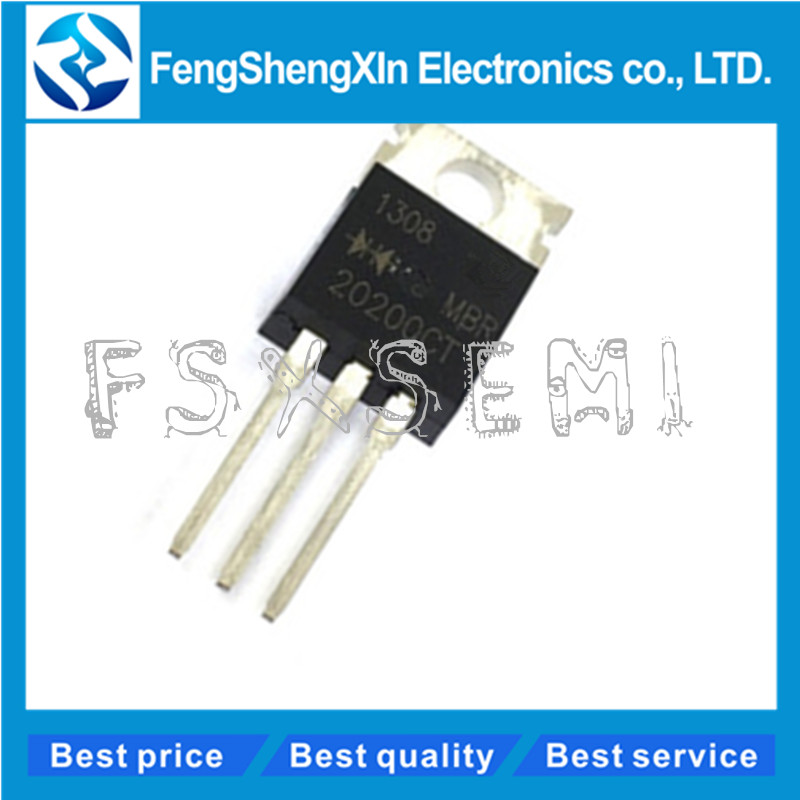 10PCS MBR20200CT B20200G Dual High-Voltage Power Schottky Rectifier TO-220