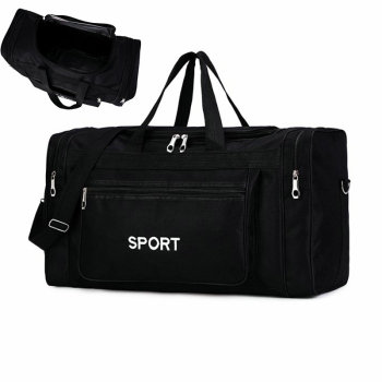 Large Gym Bag For Men Lightweight Sports Bags Women Travel Carry On Sport Duffel Black Outdoor Luggage