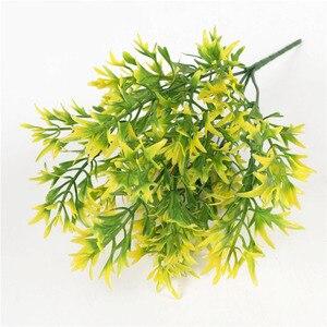 5 вилок Сельский искусственная Хризантема листья трава Горшечное растение поддельные цветы бонсай цветочный горшок для дома Свадебная веч...