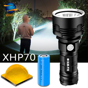 Super Powerful XHP70 LED Flashlight XM-L2 Outdoor LightingTactical Torch USB Rechargeable Waterproof Lamp Ultra Bright Lantern