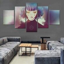 Peintures murales HD grises, 5 pièces, affiche de jeu, toile, peintures murales, tableau pour décor de salon, cadre