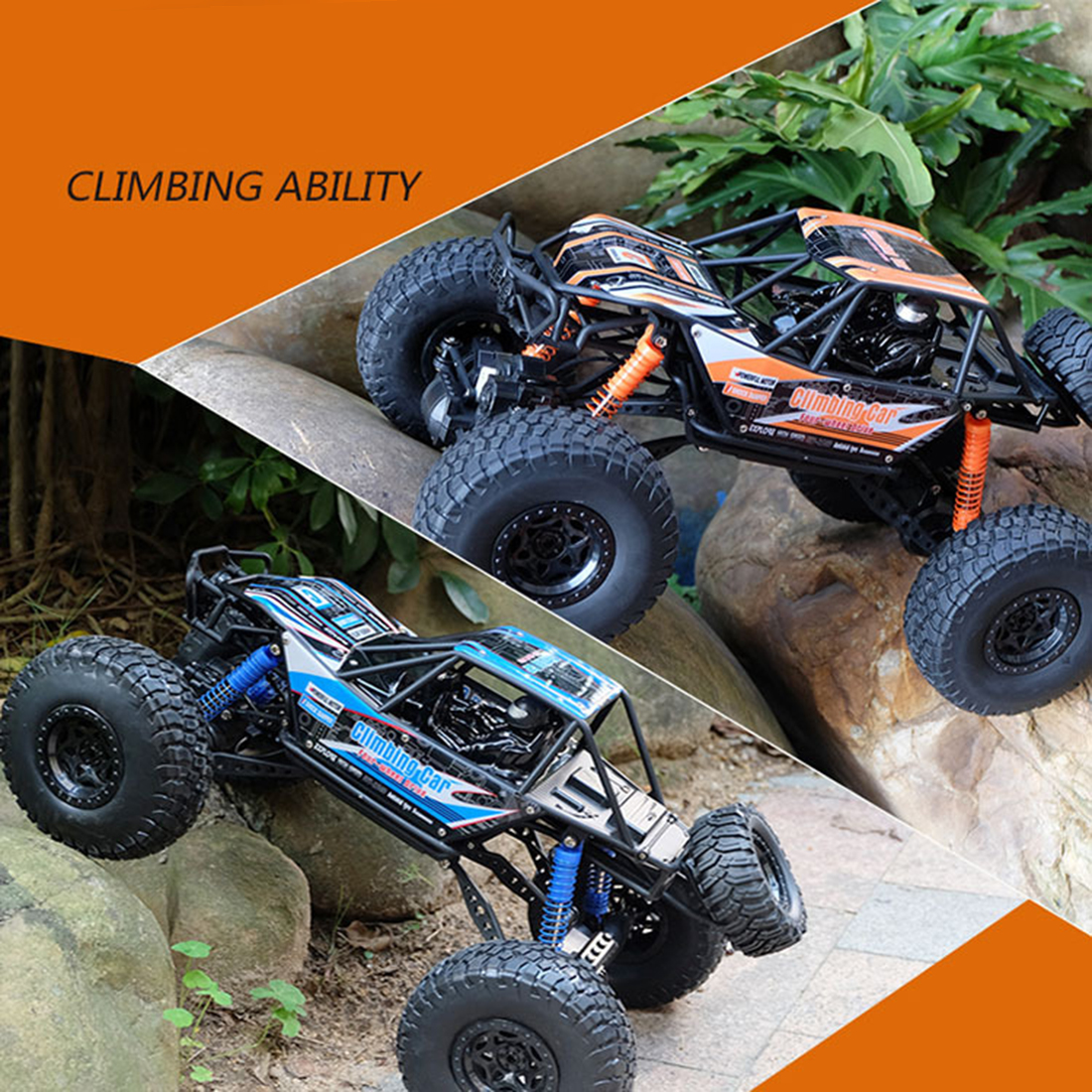 48cm 1:10 4WD 2.4G RC Monster Truck High Speed Racing Car Off Road Vehicle For Child School Play Education Birthday Gift Blue - 4