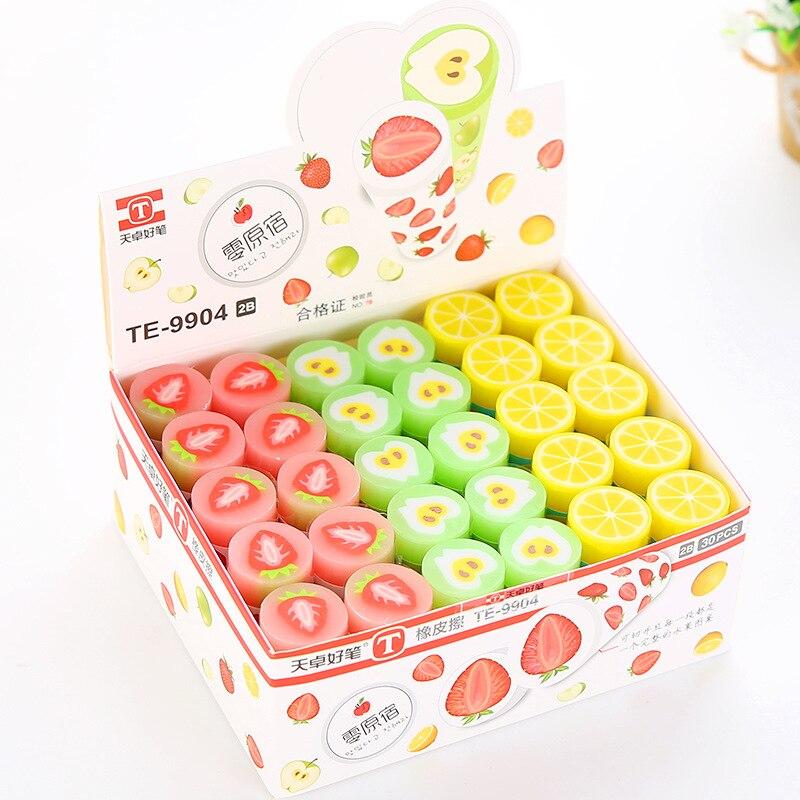 1 Pcs Fruit Creative Lovely Sweet Eraser Rubber Eraser Primary Student Prizes Promotional Gift Stationery