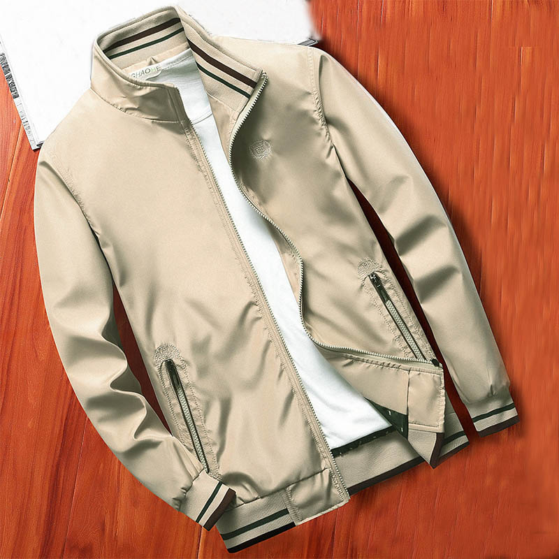 MANTLCONX New Spring Men Jacket Coats Casual Solid Color Jackets Stand Collar Men Business Jacket Brand Clothing Male Outwear 9