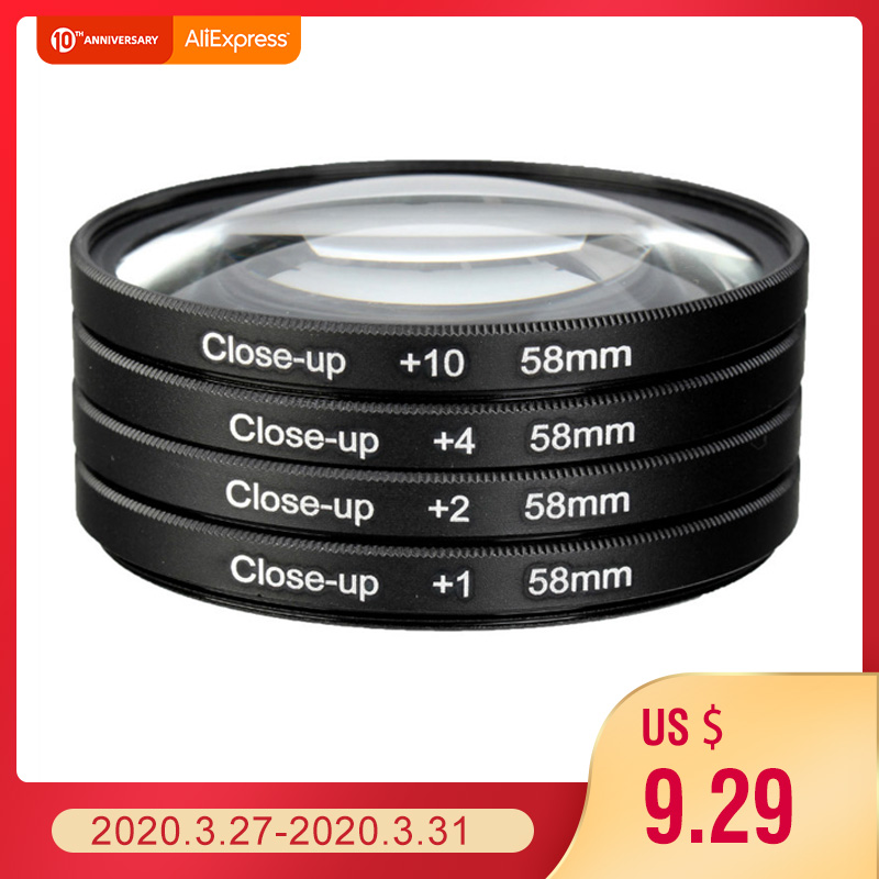 Camera 58mm Macro Close Up Filter Lens Kit +1 +2 +4 +10 for Canon EOS 700D 650D 600D 550D 500D1200D 1100D 100D Rebel T5i T4i Len